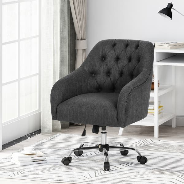 Shop Barbour Tufted Home Office Chair With Swivel Base By Christopher Knight Home On Sale Overstock 27584061