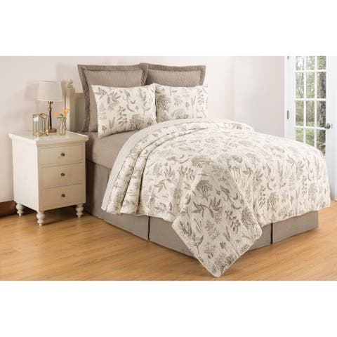 Louisa Clay Reversible Cotton Quilt Set