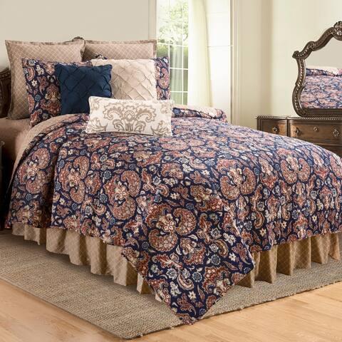 Rosamund Damask Reversible Cotton Quilt Set