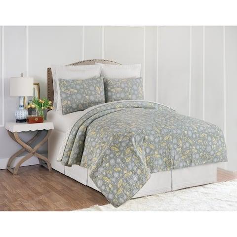 Dandelion Court Floral Reversible Cotton Quilt Set