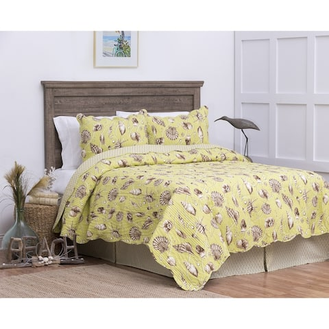 Calypso Shells Cotton Quilt Set