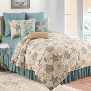 Shop Panama Jack Sand Dollar Cotton 3 Piece Quilt Set