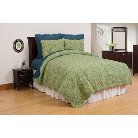 Kashmir Paisley Cotton Quilt Set