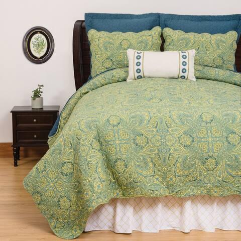 Kashmir Paisley Cotton 3 Piece Quilt Set - Twin 2 Piece