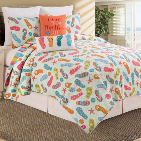 Flip Flop Life Cotton Quilt Set