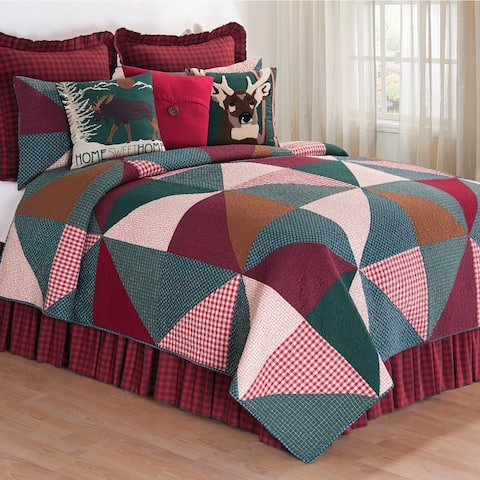 Shady Pines Rustic Cotton Quilt Set