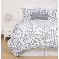 Serendipity Grey Cotton Quilt Set