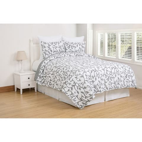 Serendipity Grey Cotton Quilt Set