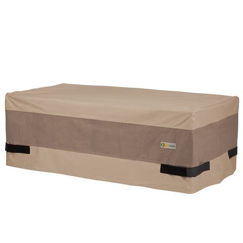 Duck Covers Elegant Waterproof 47 Inch Patio Coffee Table Cover