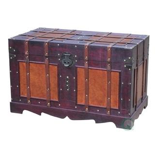 Carbon Loft Lochhead Antique Style Steamer Trunk