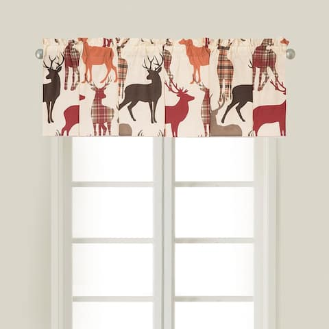 Colton Window Cotton Window Curtain Valances (Set of 2) - 15.5 x 72