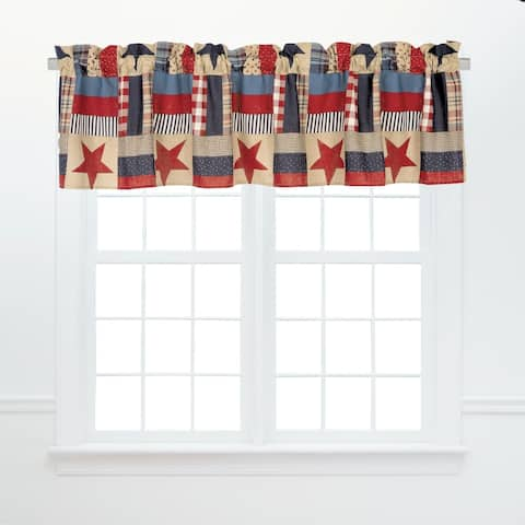 Bennington Window Cotton Window Curtain Valances (Set of 2) - 15.5 x 72