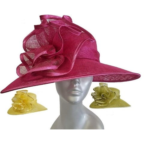 2ab7e67954dc0 Kentucky Derby Straw Sinamay Designer Couture Dressy Women s Hat