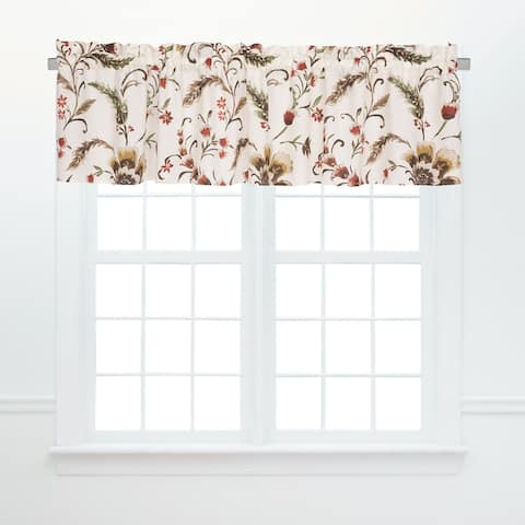 Autumn Bloom Window Window Curtain Valances (Set of 2) - 15.5 x 72
