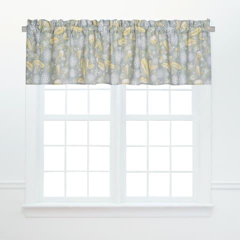 Dandelion Court Window Cotton Window Curtain Valances (Set of 2) - 15.5 x 72