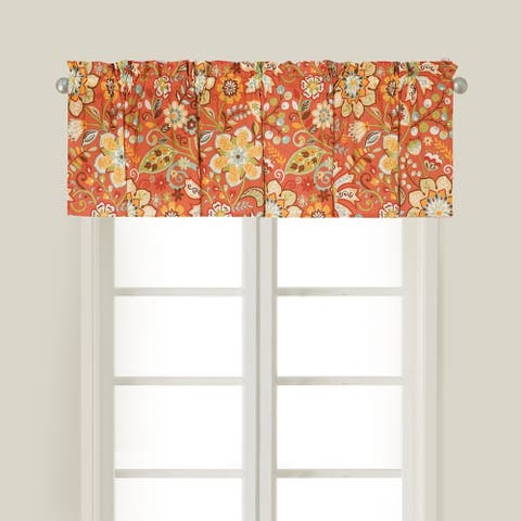 Ghisella Window Cotton Window Curtain Valances (Set of 2) - 15.5 x 72