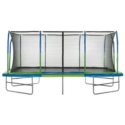 Upper Bounce Rectangle Trampoline W/ Enclosure System (10' X 17')
