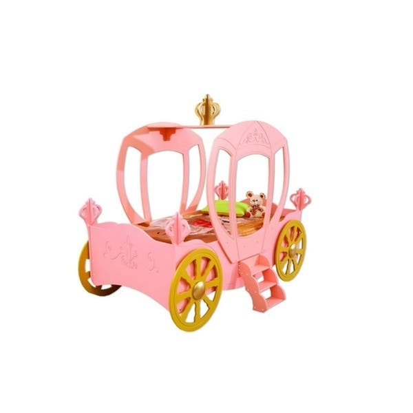Girls Princess Carriage Car Bed