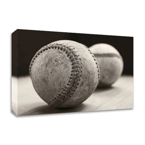Old Baseballs by Edward M. Fielding, Print on Canvas, Ready to Hang