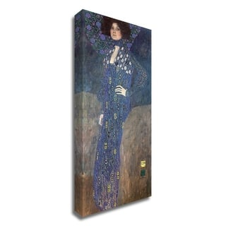 Portrait of Emilie Floge by Gustav Klimt, Print on Canvas, Ready to Hang