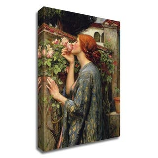 The Soul of the Rose by John William Waterhouse, Print on Canvas, Ready to Hang - 16 x 24