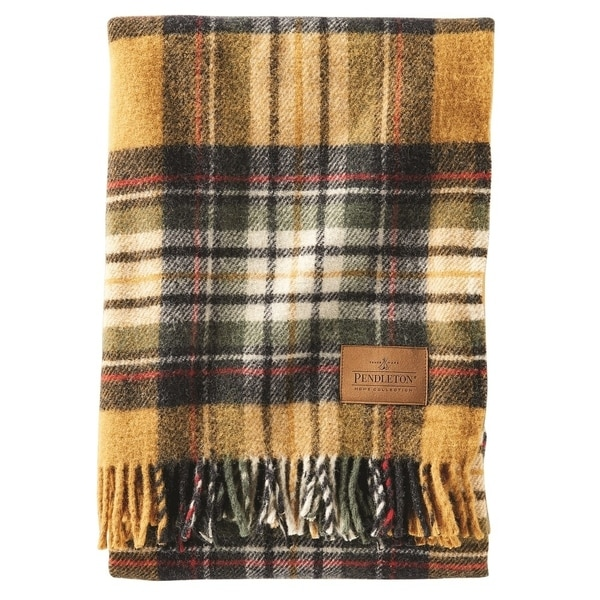Pendleton Kent Motor Robe Throw with Leather Shoulder Strap. Opens flyout.