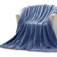Kasentex 100 -percent Cotton Decorative Throw Blanket
