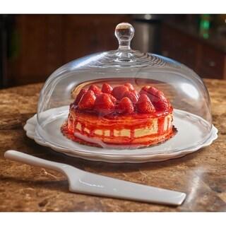 Red Vanilla Fare Cake Plate Set ( 3pcs)