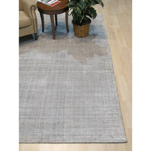 Ivory/Gray Stripe Handmade Boho Rug - 10' x 14'
