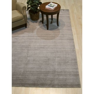 Brown/Gray Solid Handmade Urban Rug - 9' x 12'