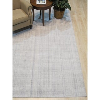 Link to Ivory/Blue Solid Handmade Legend Rug - 8' x 10' Similar Items in Rustic Rugs