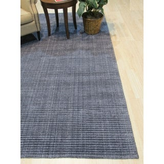 Link to Blue/Gray Solid Handmade Legend Rug - 8' x 10' Similar Items in Rustic Rugs