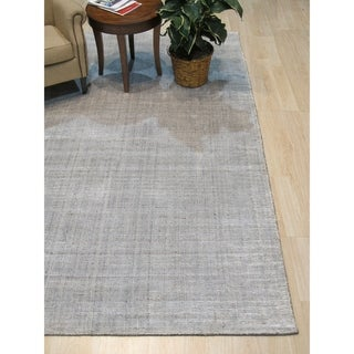 Link to Ivory/Gray Stripe Handmade Boho Rug - 8' x 10' Similar Items in Rustic Rugs