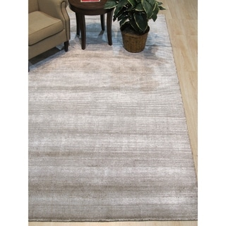 Link to Ivory/Brown Stripe Handmade Boho Rug - 8' x 10' Similar Items in Rustic Rugs