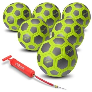 GoSports ELITE Futsal Ball 6 Pack - Indoor or Outdoor FUTSAL Games or Practice – Includes Pump and Carry Bag