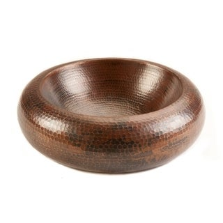 15-inch Double Wall Copper Blooming Vessel Sink
