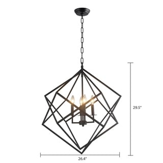 Link to 4 Light Chandelier in Black finish (As Is Item) Similar Items in As Is