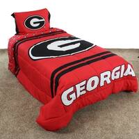 Georgia Bulldogs Striped Super Soft Reversible Comforter Set