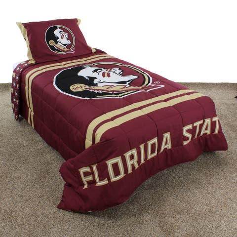 Florida State Seminoles Striped Super Soft Reversible Comforter Set