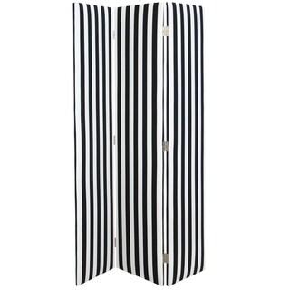 Skyline Furniture Straight Screen in Canopy Stripe Black/white