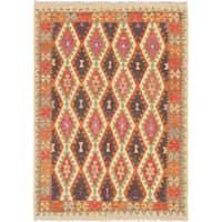 eCarpetGallery  Flat-weave Sivas Cream, Red Wool Kilim - 5'10 x 8'2
