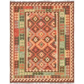eCarpetGallery  Flat-weave Kashkoli FW Red Wool Kilim - 5'1 x 6'6