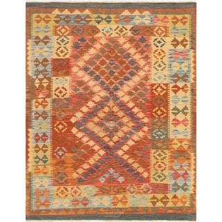 eCarpetGallery  Flat-weave Hereke FW Red Wool Kilim - 4'10 x 6'3