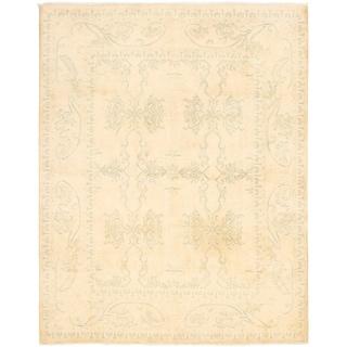 eCarpetGallery  Hand-knotted Finest Ziegler Chobi Beige Wool Rug - 7'10 x 9'10