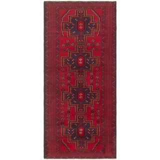 eCarpetGallery  Hand-knotted Rizbaft Red Wool Rug - 2'8 x 5'9