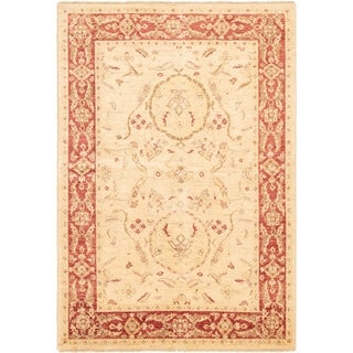 eCarpetGallery  Hand-knotted Chobi Finest Ivory Wool Rug - 5'10 x 8'8