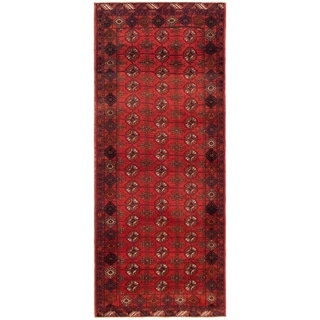 eCarpetGallery  Hand-knotted Rizbaft Red Wool Rug - 2'10 x 6'9