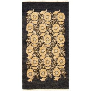 eCarpetGallery  Hand-knotted Finest Ziegler Chobi Black Wool Rug - 3'0 x 5'5