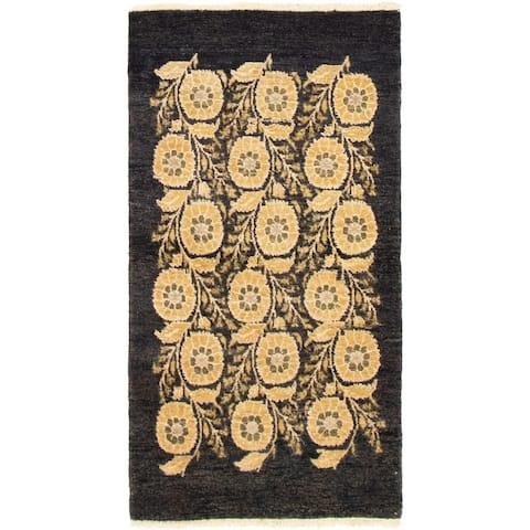 Hand-knotted Ziegler Chobi Black Wool Rug