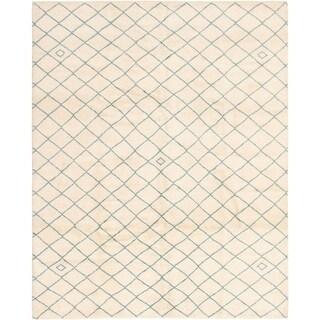 eCarpetGallery  Hand-knotted Arlequin Cream Wool Rug - 8'1 x 10'2